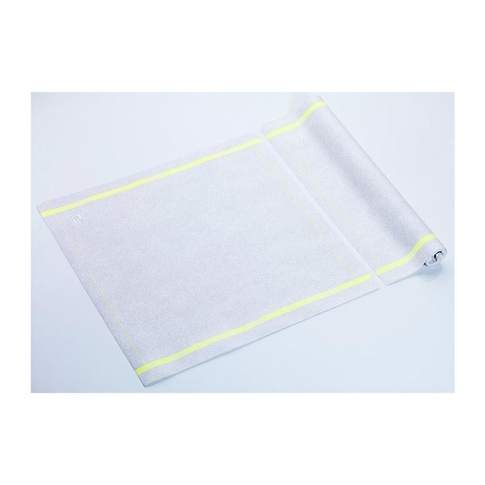 Tovagliolo Roll-Drap in microfibra con bordo giallo cm 40x40