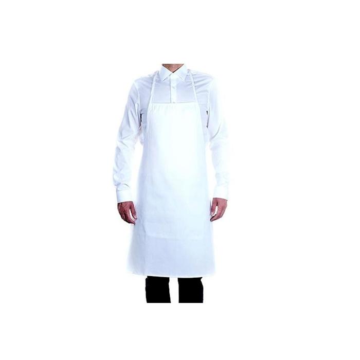 Grembiule con pettorina Roll-Drap in cotone plastificato bianco cm 75x90
