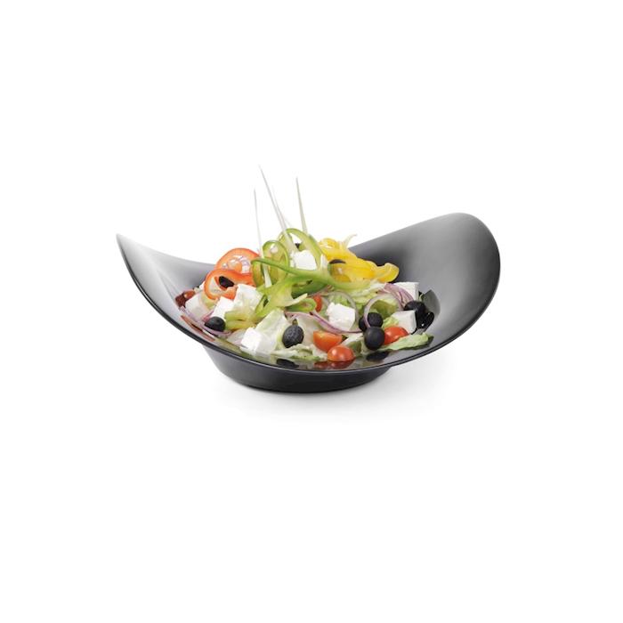 Bowl buffet a onda Hendi in melamina nera cm 35,5x35,5x12,3