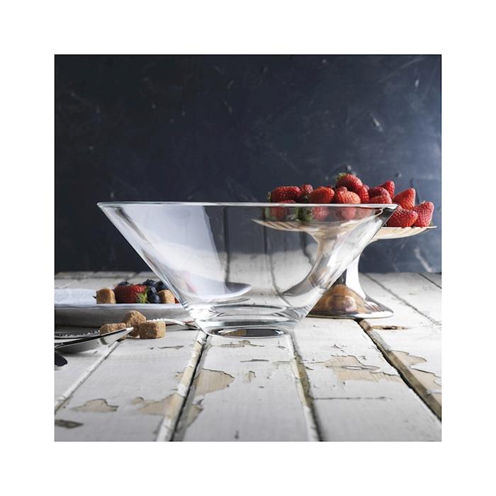Insalatiera Volubilis Vidivi in vetro trasparente cm 26x20