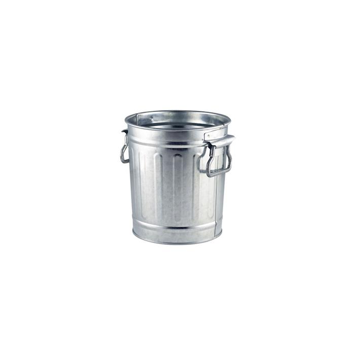 Mini pattumiera in acciaio galvanizzato cm 14x15