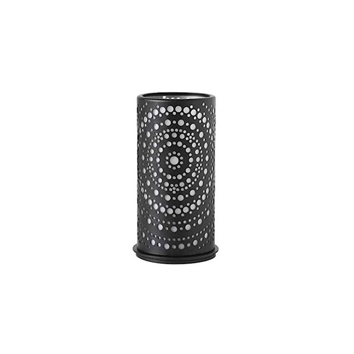 Porta candela Billy Duni in acciaio e plastica nera cm 6,5x14