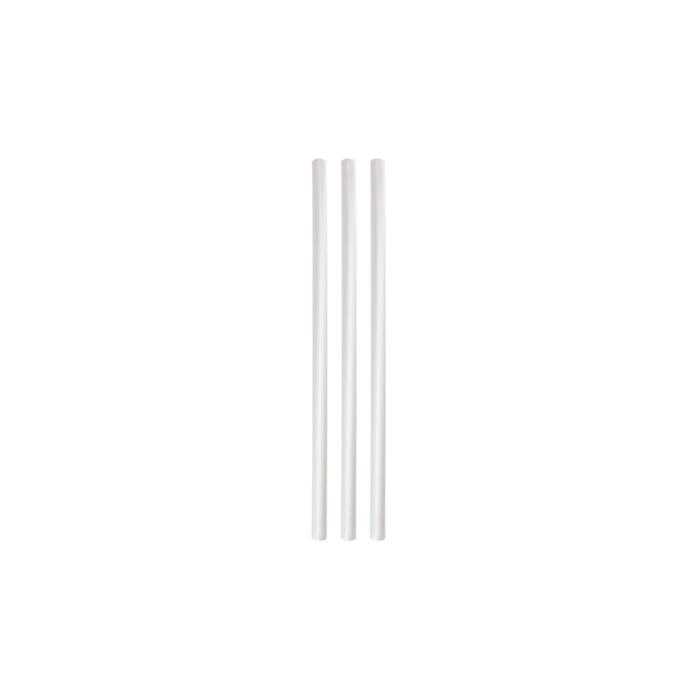 Cannucce Eco in bio plastica trasparente cm 20x0,8
