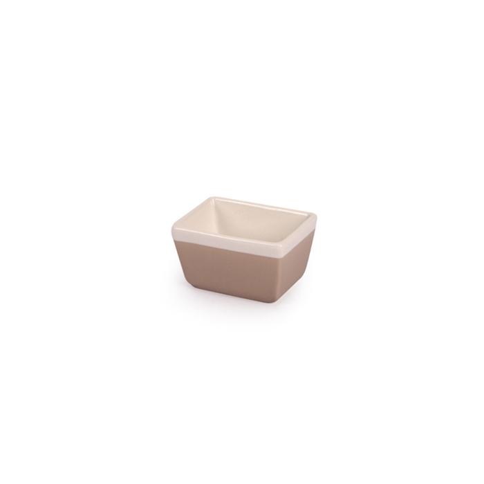 Porta bustine CoffeeCo in porcellana tortora cm 9x6,5
