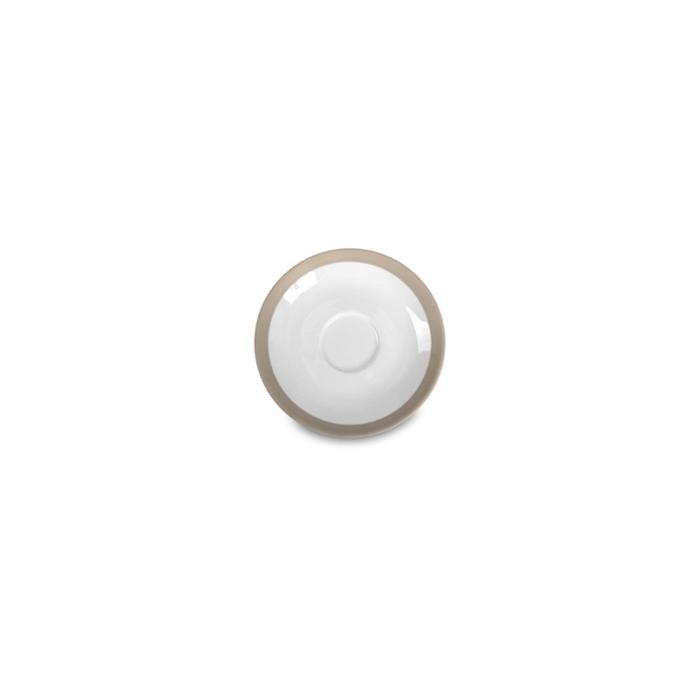 Piatto per tazza caffè CoffeeCo in porcellana tortora cm 12,5
