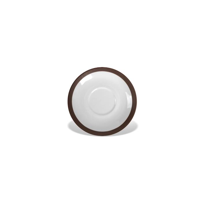 Piatto per tazza cappuccino CoffeeCo in porcellana marrone cm 14,5
