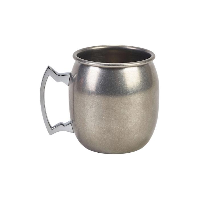 Boccale mug bombato in acciaio inox anticato cl 40