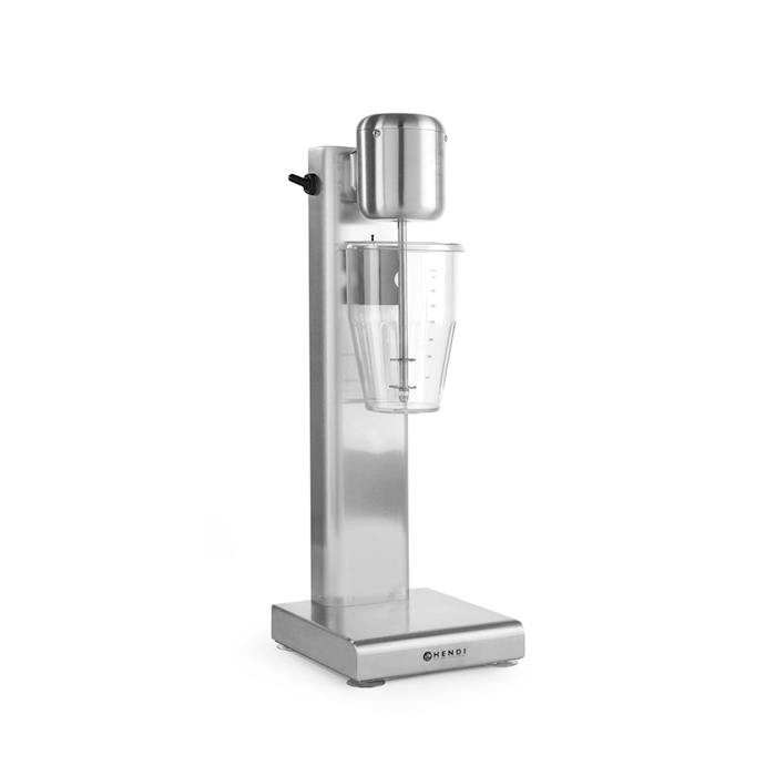 Mixer Milkshaker Hendi con bicchiere in acciaio e policarbonato lt 1