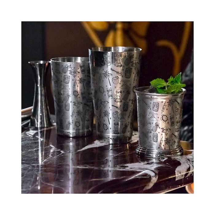 Shaker boston bilanciato Tiki Urban Bar in acciaio inox cl 75