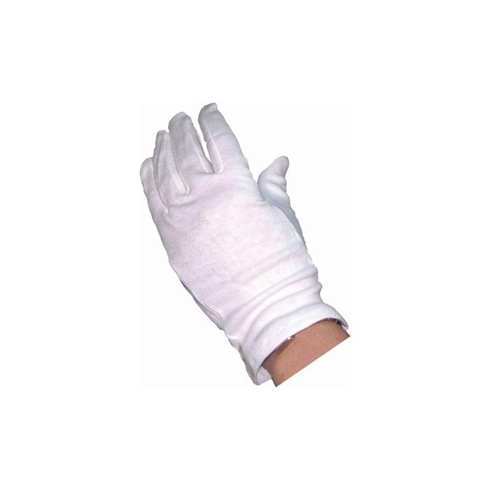 Guanti in cotone bianco taglia M