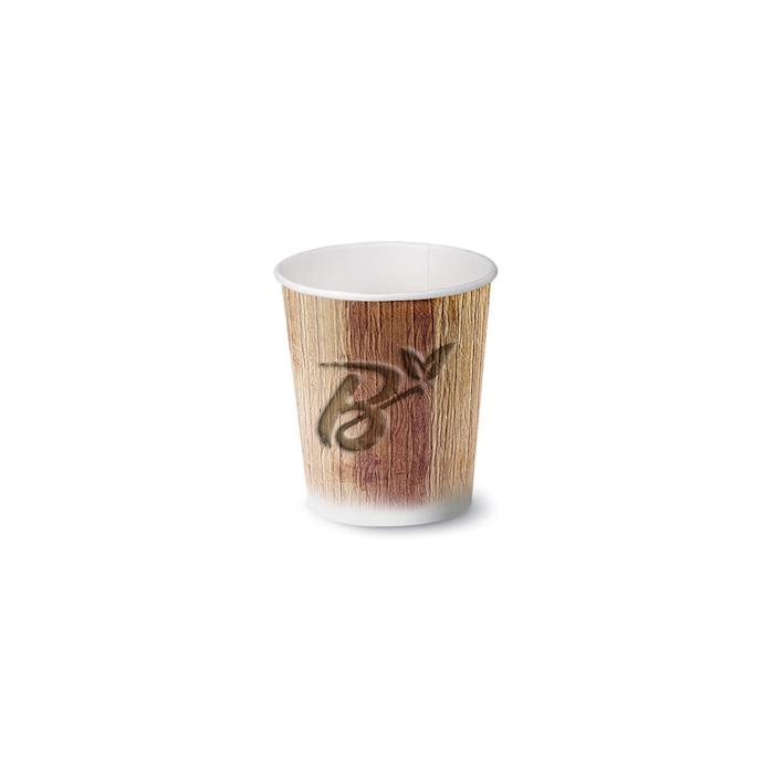 Bicchiere caffè Palm Leaf biodegradabile in carta cl 9