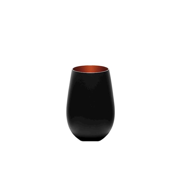 Bicchiere acqua Olympic Stolzle in vetro bicolore nero e bronzo cl 46,5