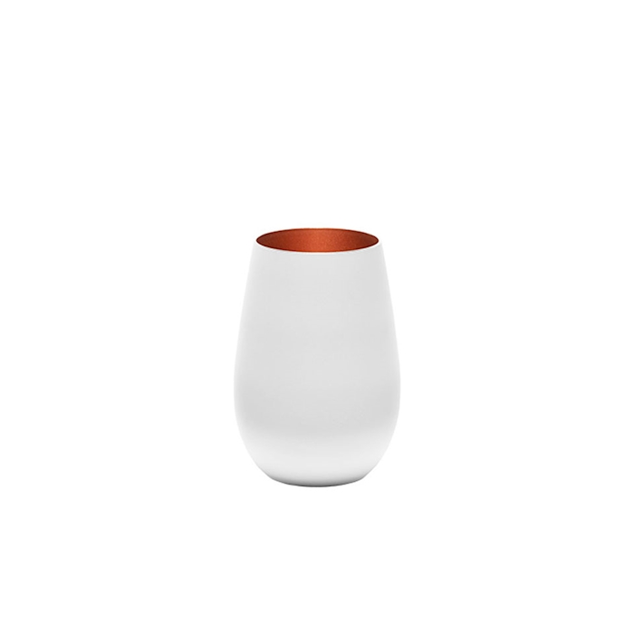 Bicchiere acqua Olympic Stolzle in vetro bicolore bianco e bronzo cl 46,5