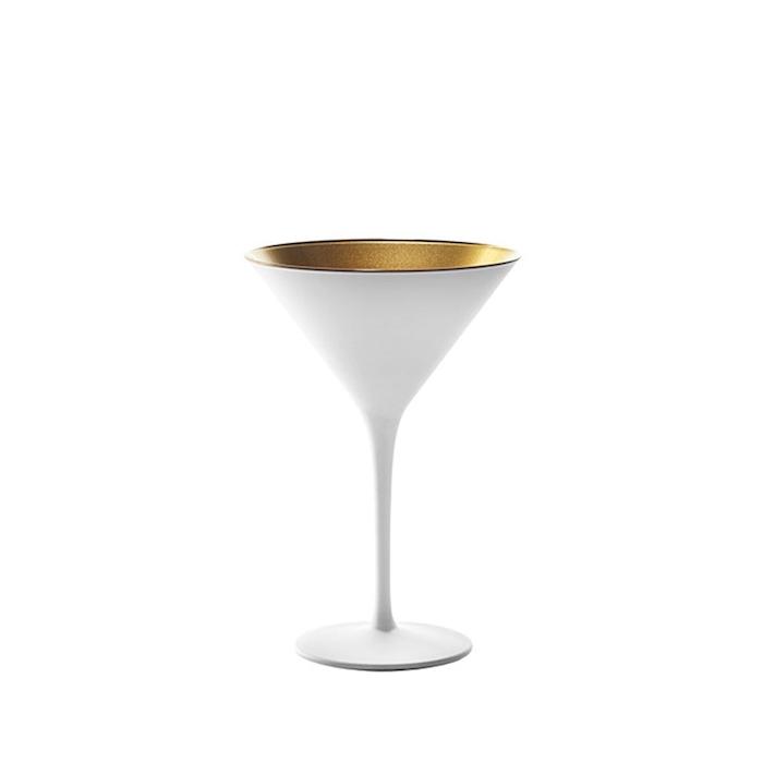 Coppa cocktail Olympic Stolzle in vetro bicolore bianco e oro cl 24