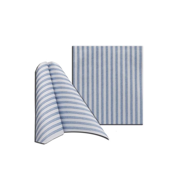 Tovagliolo Capri in cellulosa bianca e blu cm 30x40