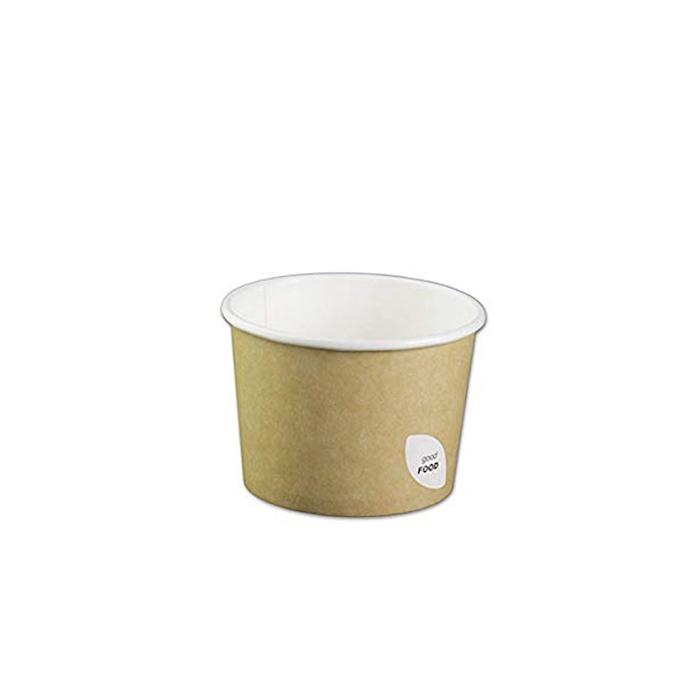 Ciotola Duni per zuppa in cartone marrone cl 55