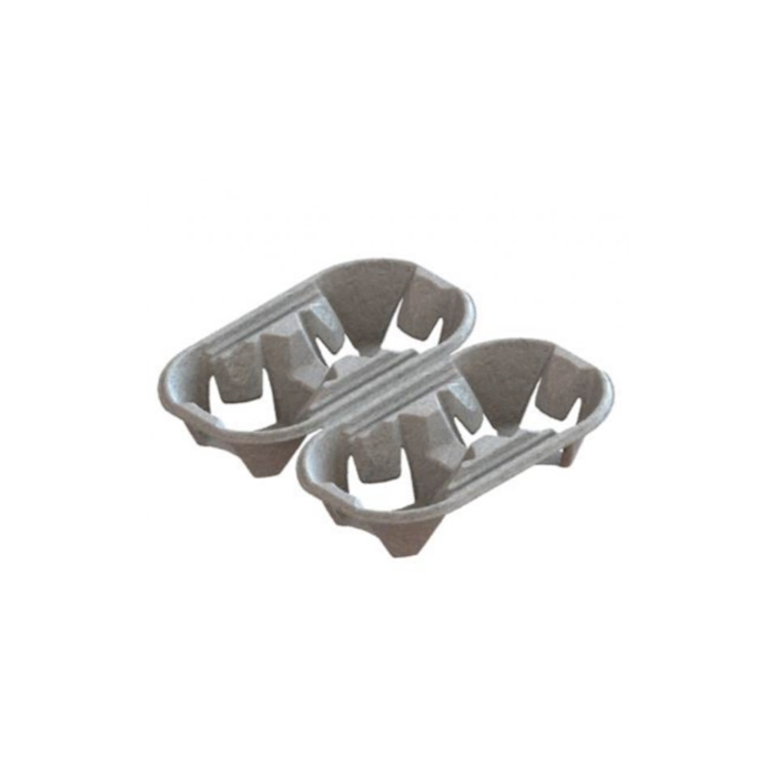 Contenitore per asporto 2+2 tazze in carta cm 20x21,5
