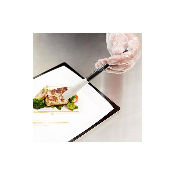 Pochette nera con 5 pennelli in silicone colori misti