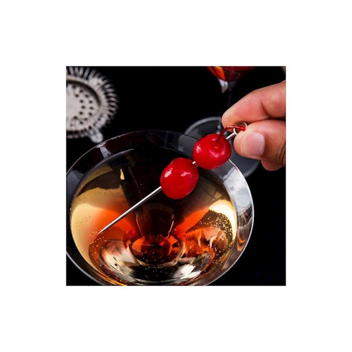 Spiedini cocktail Cerchio in acciaio inox cm 10,8