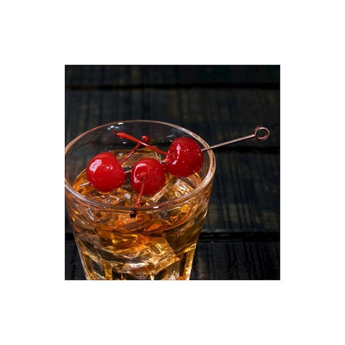 Spiedini cocktail Cerchio in acciaio inox ramato cm 10,8