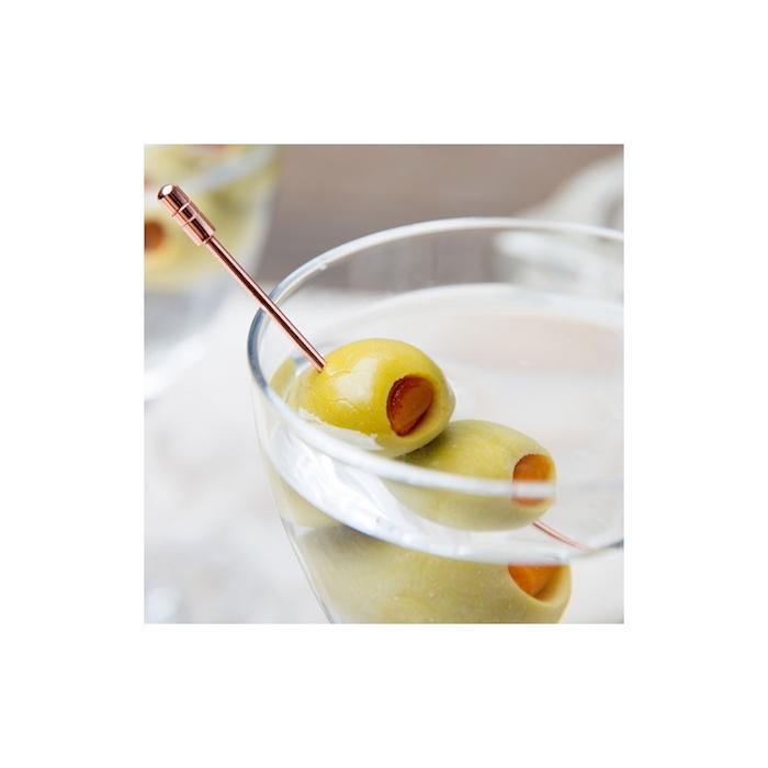 Spiedini cocktail in acciaio inox ramato cm 11