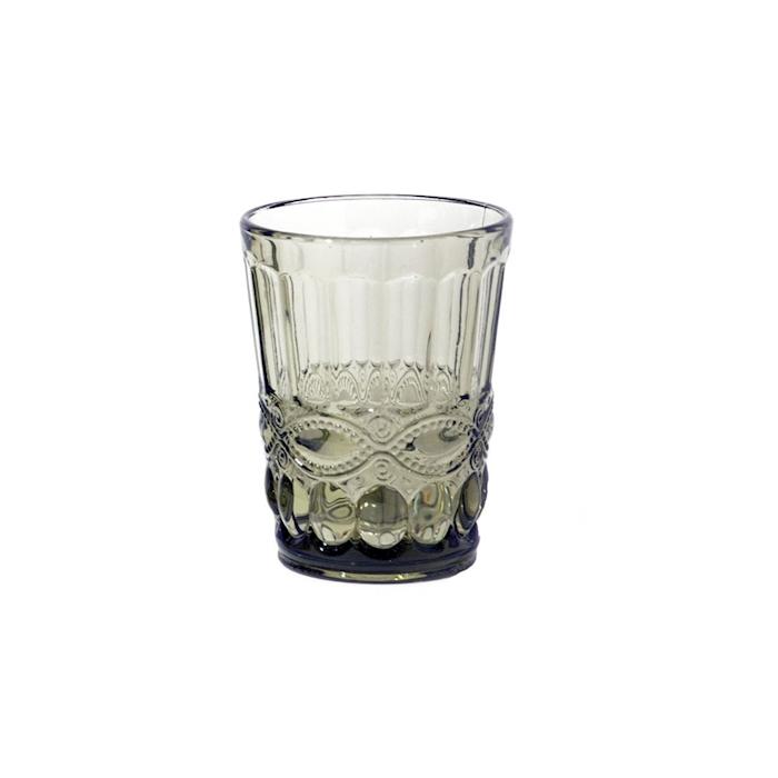 Bicchiere Solange in vetro verde oliva cl 26,5