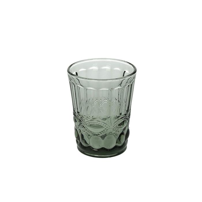 Bicchiere Solange in vetro grigio cl 26,5