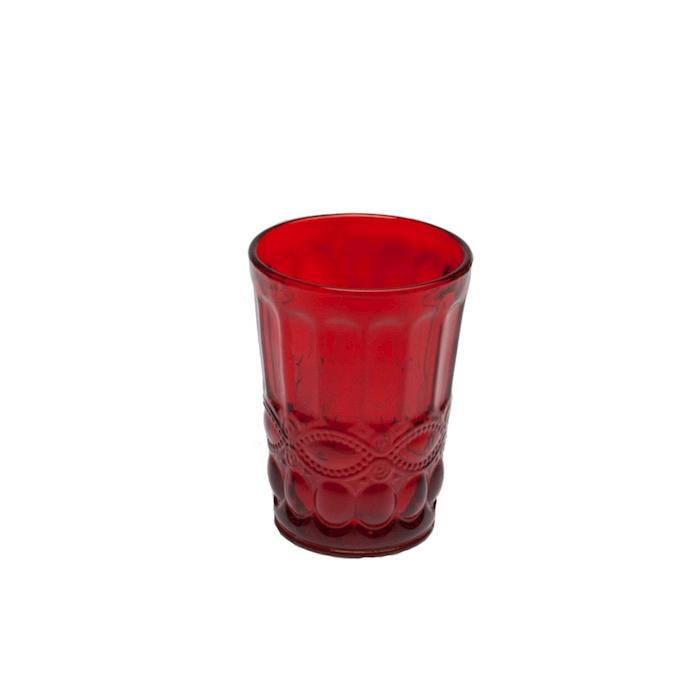 Bicchiere Solange in vetro rosso cl 26,5