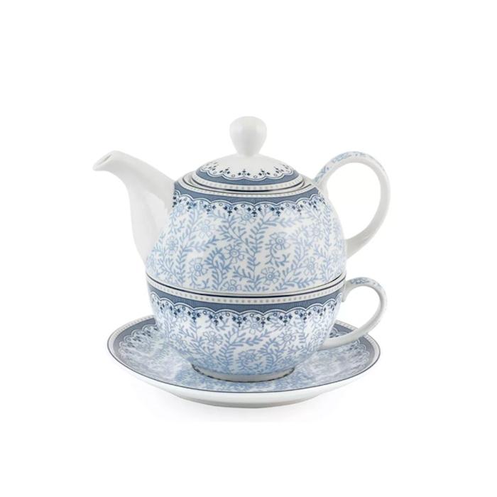 Teiera Tea For One Dream in porcellana blu e bianca