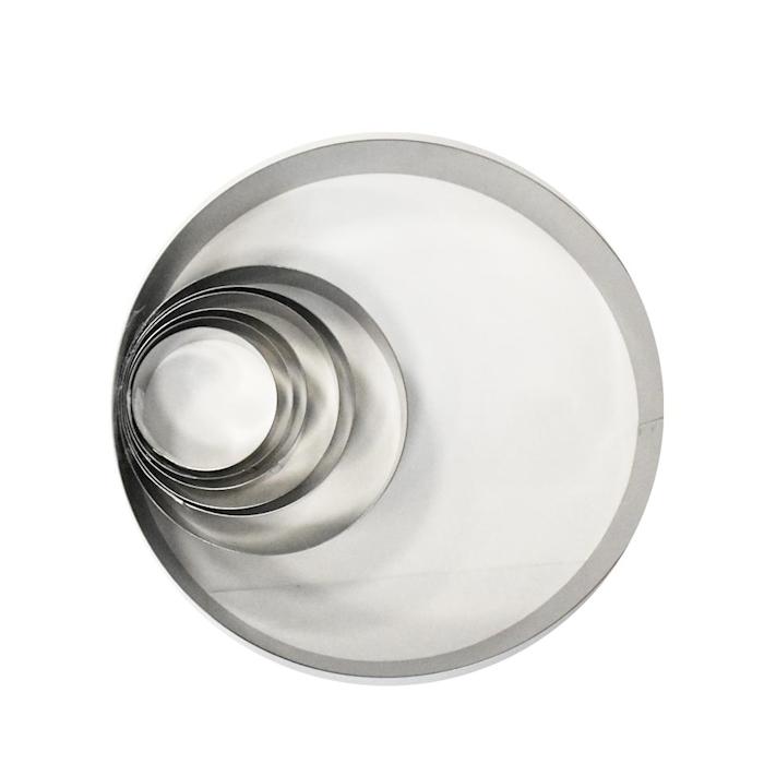 Stampo tondo in acciaio inox cm 30x5