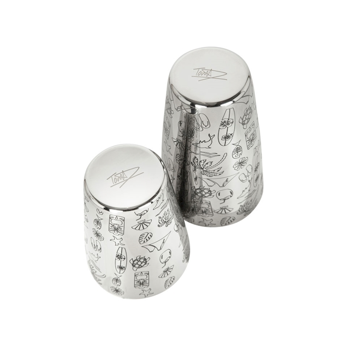 Boston 2 pezzi Tiki in acciaio inox cl 75
