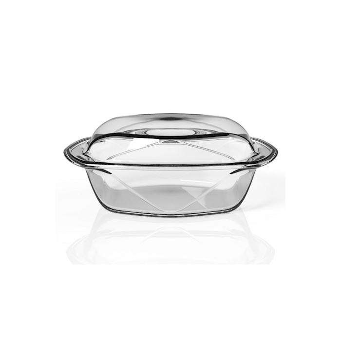 Set 2 pirofile Chef N' Table in vetro temperato cm 26x16