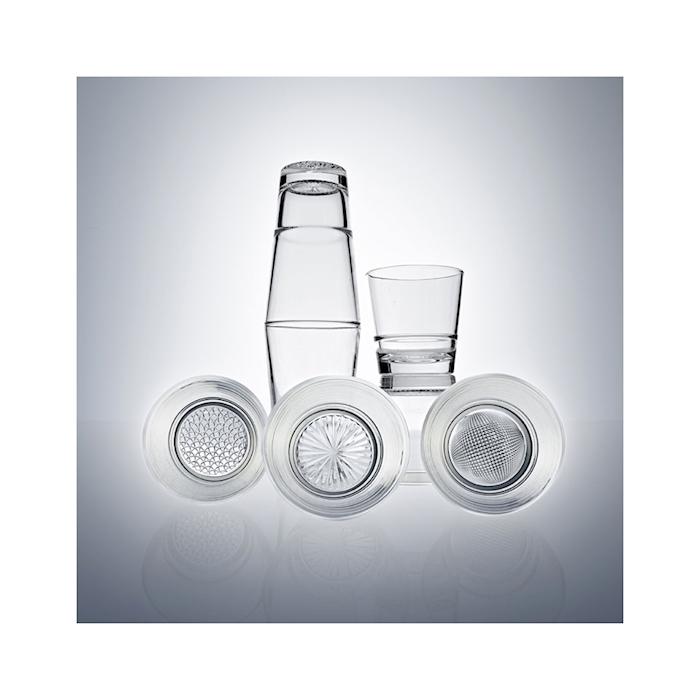 Bicchiere bibita impilabile Mosaico Vidivi in vetro trasparente cl 42