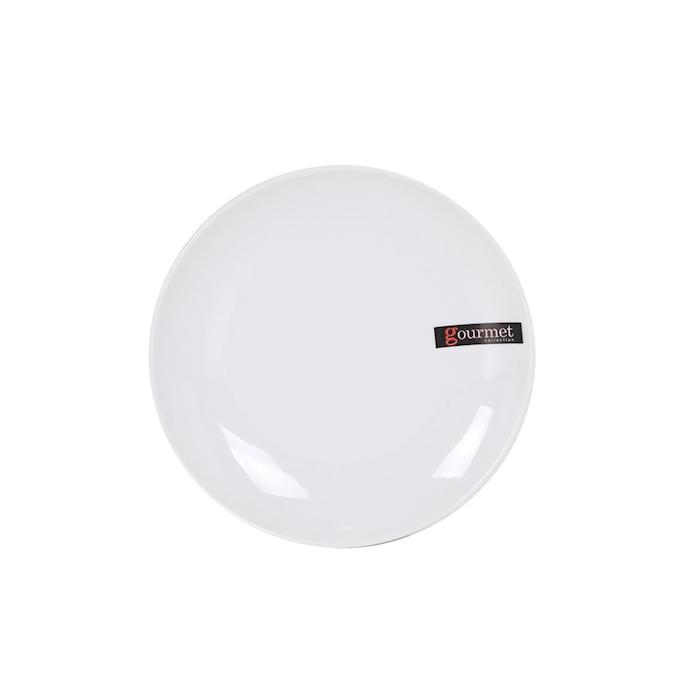 Piatto piano Gourmet Bistro in porcellana bianca cm 16,6