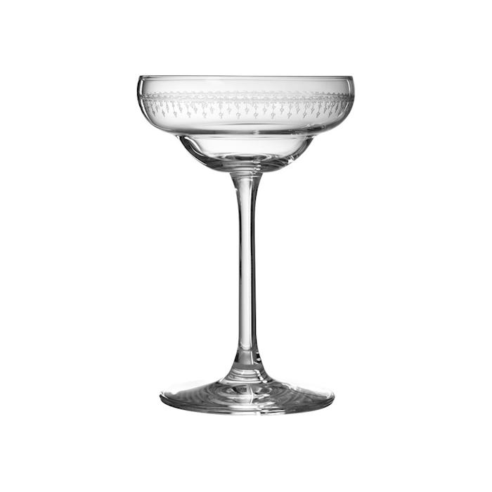 Coppa champagne Coley Urban Bar in vetro decorato cl 17