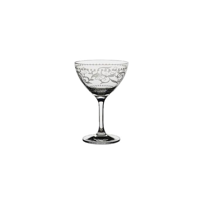 Calice Classic Cocktail Renaissance in vetro decorato cl 25