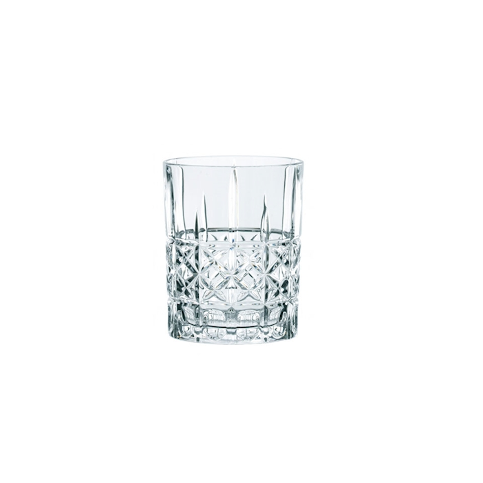Bicchiere Diamond Highland in vetro trasparente cl 34,5