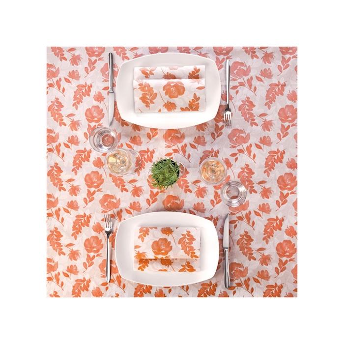 Tovaglia Mono Pack Service in airlaid garden terracotta cm 100x100