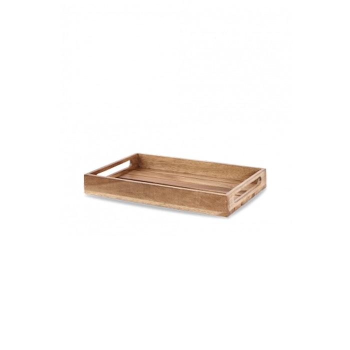 Alzata rettangolare Churchill in legno d'acacia naturale cm 39,7x25,8x5