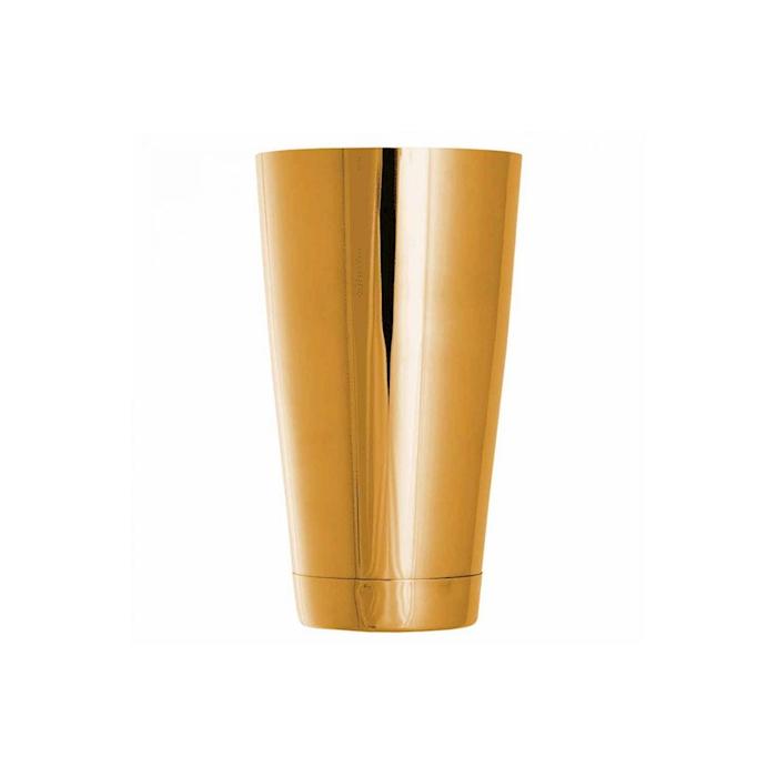 Shaker boston tin Ginza bilanciato in acciaio dorato cl 75
