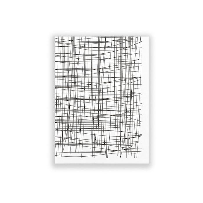 Tovagliolo Tokio in poliestere bianco e nero cm 30x40