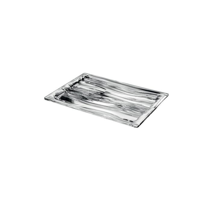 Vassoio rettangolare S'Acqua in san argento cm 23x16x2,2
