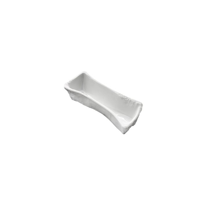 Coppetta Cannibal Femur 100% Chef in porcellana bianca cm 14,5x4x2,8