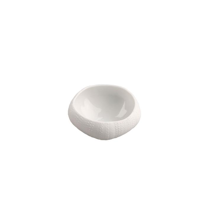 Coppetta Mediterraneo Riccio di Mare 100% Chef in porcellana bianca cm 4,5x6