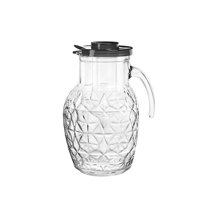 Brocca Oriente Bormioli Rocco in vetro trasparente con rinfrescatore lt 2,4