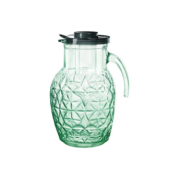 Brocca Oriente Bormioli Rocco in vetro verde con rinfrescatore lt 2,4