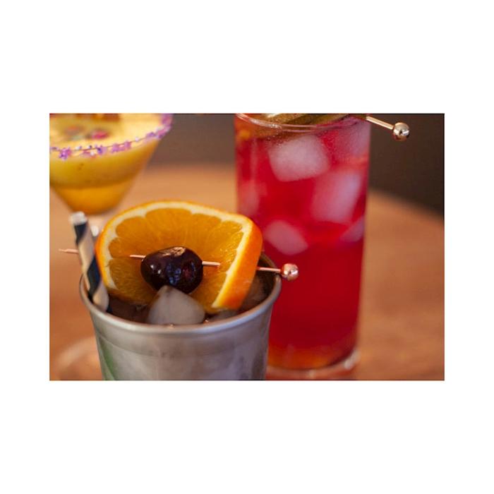 Spiedini cocktail sfera in acciaio ramato cm 10,5