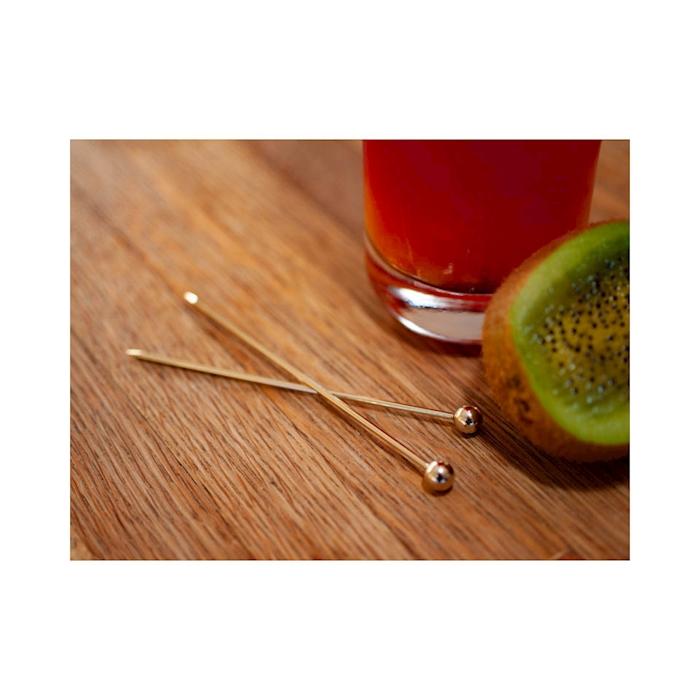 Spiedini cocktail sfera in acciaio dorato cm 10,5
