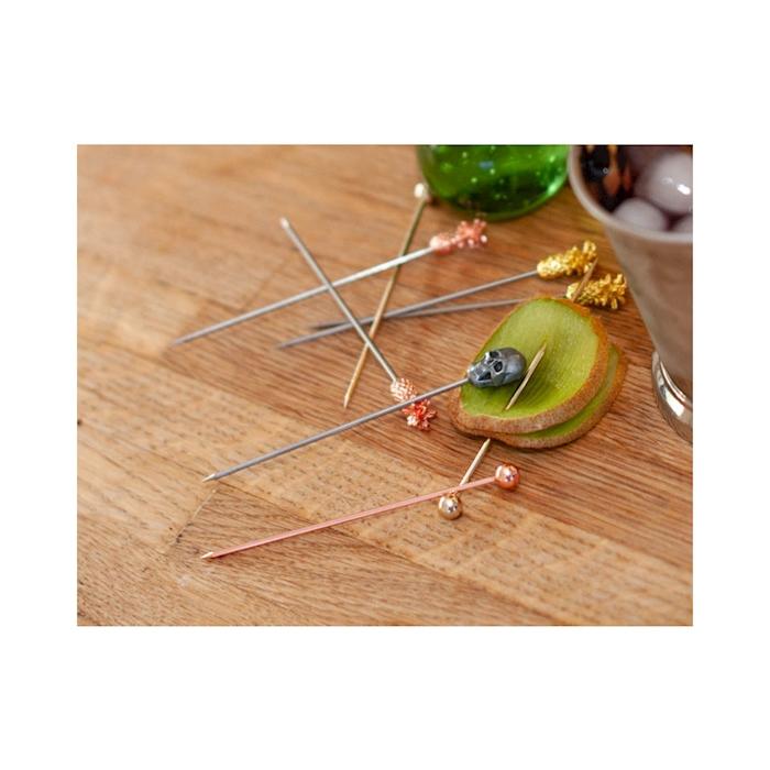 Spiedini cocktail ananas in acciaio ramato cm 12