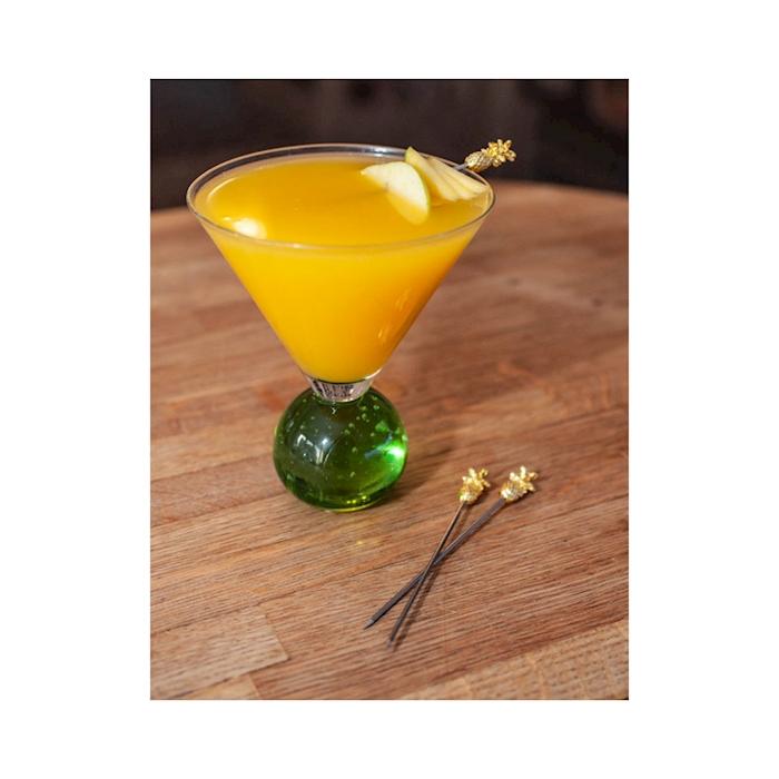 Spiedini cocktail ananas in acciaio dorato cm 12